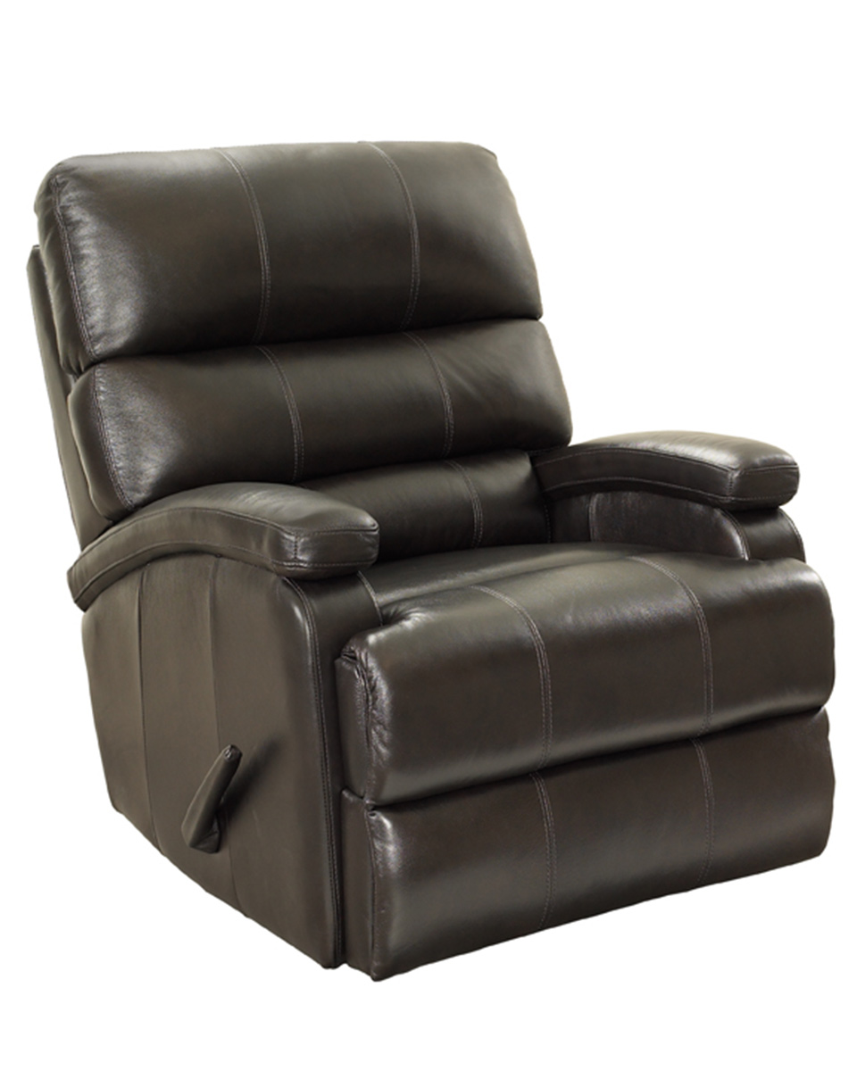 Barcalounger Detrick Rocker Recliner Chair - Stargo-Remy Chocolate/All Leather