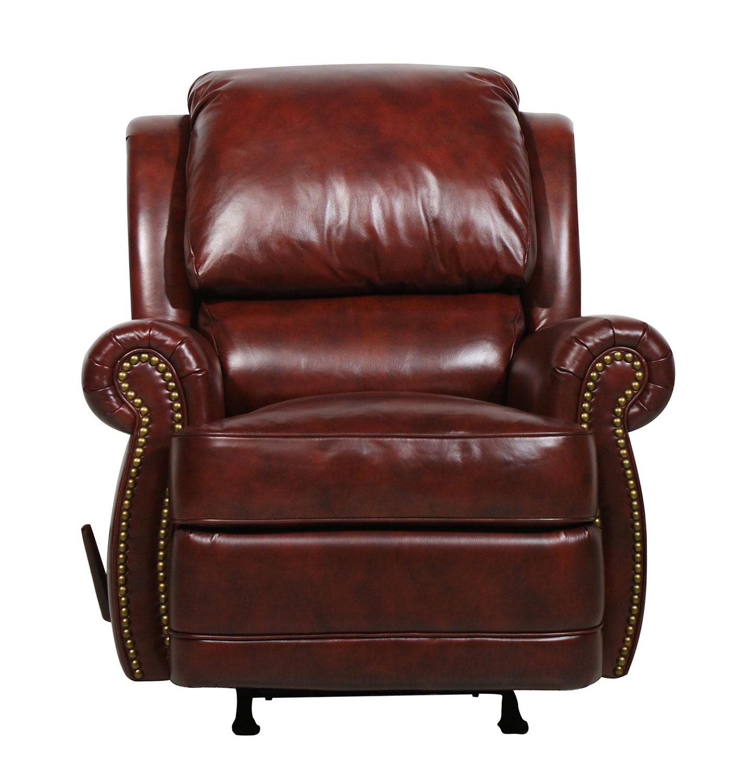 Precious Barcalounger Tri tone Burgundy Regency ll Vintage Reserve Leather Recliner Burgundy Product Photo