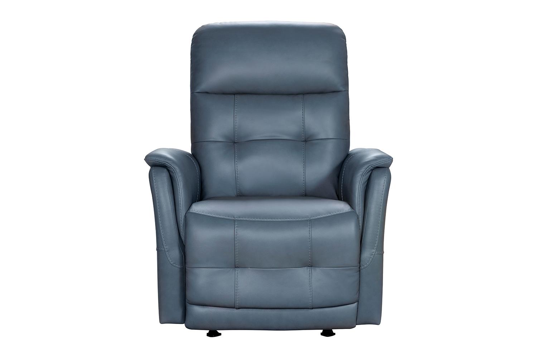 Barcalounger Horton Power Rocker Recliner Chair with Power Head Rest - Masen Bluegray/Leather match