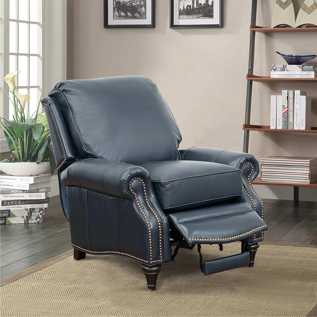 Barcalounger Avery Recliner Chair - Shoreham Blue/All Leather