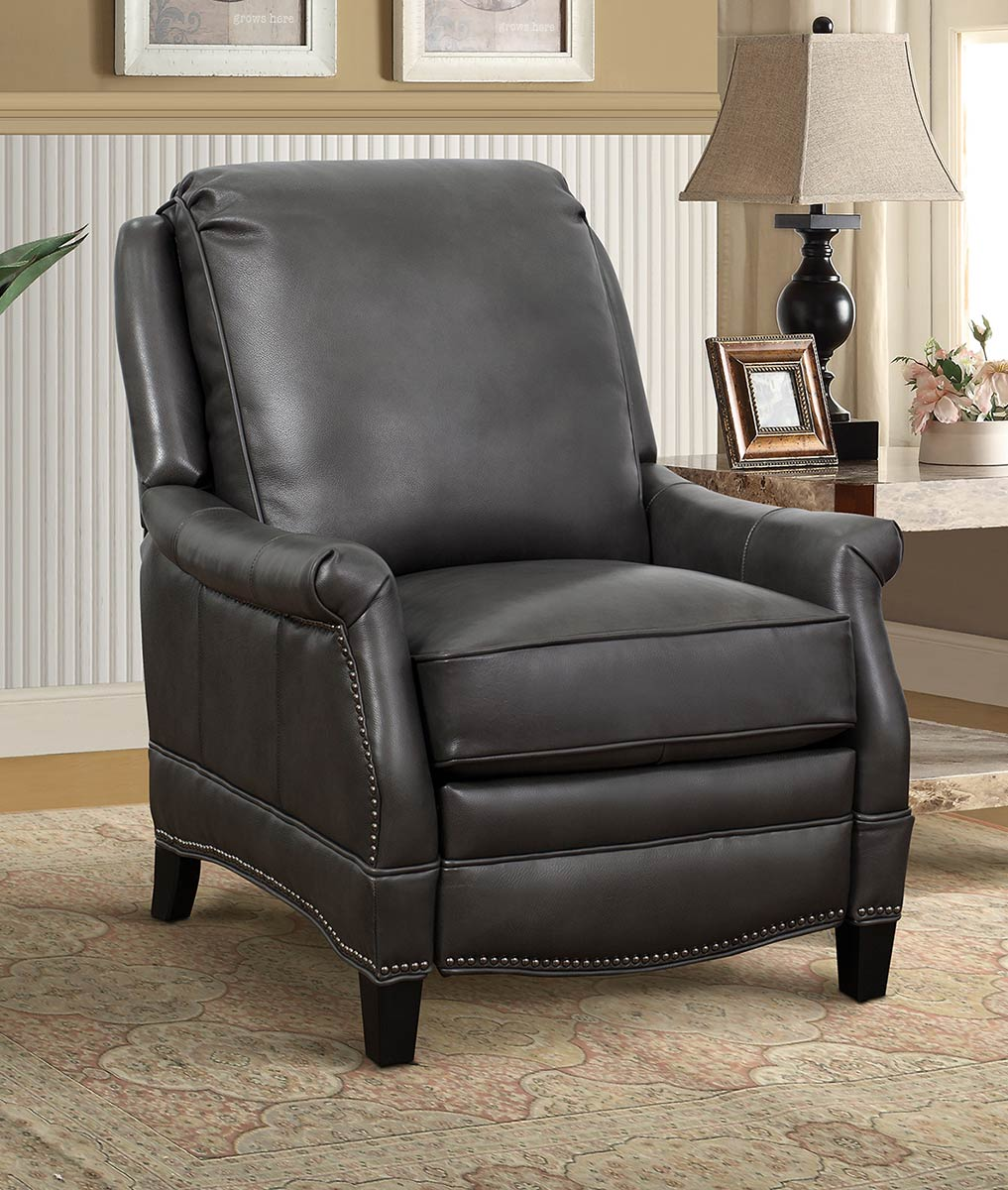 Barcalounger Ashebrooke Recliner Chair - Wrenn Gray/All Leather