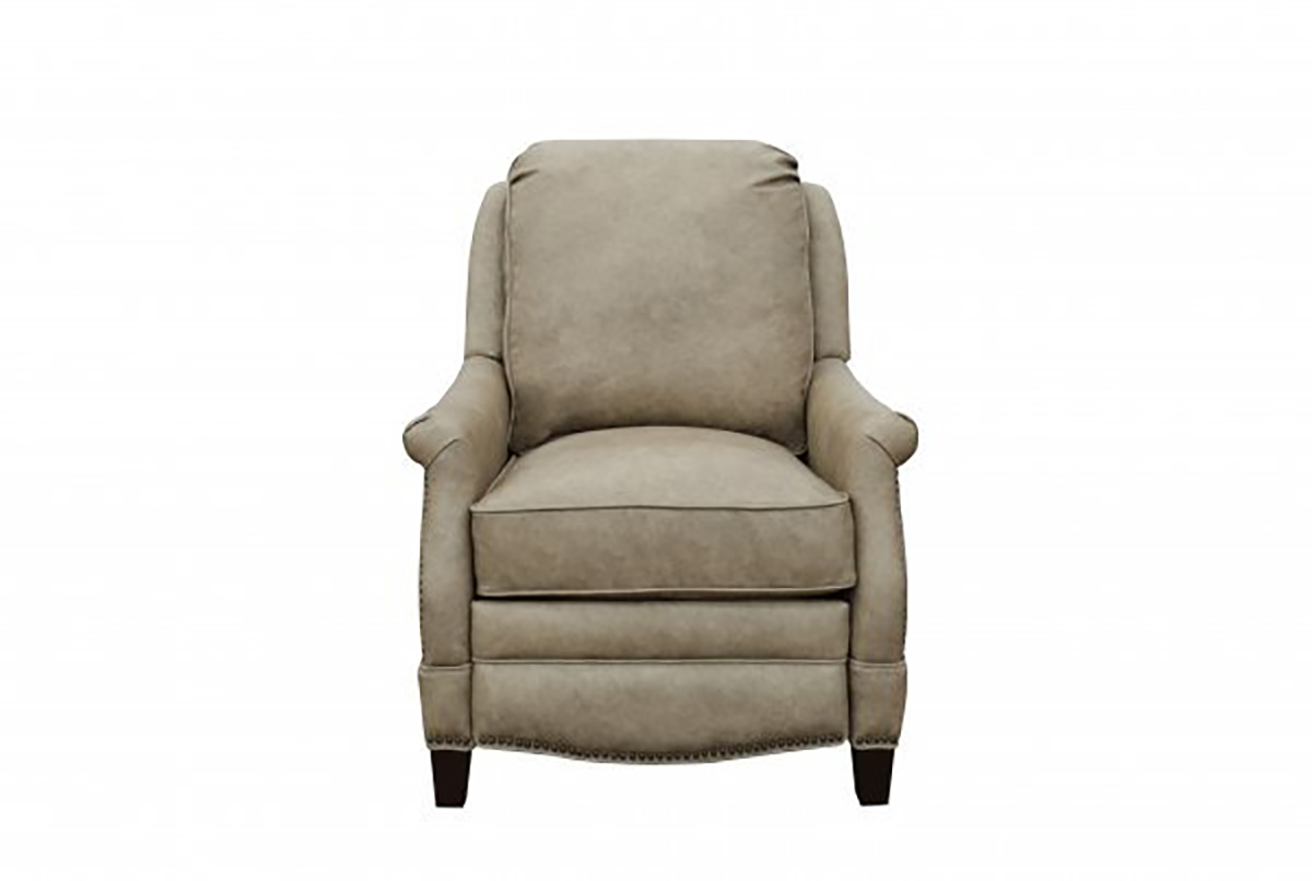 Barcalounger Ashebrooke Recliner Chair - York Taupe/All Top Rain Leather