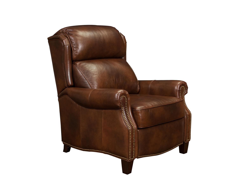 Barcalounger Meade Recliner Chair - Worthington Cognac/All Leather