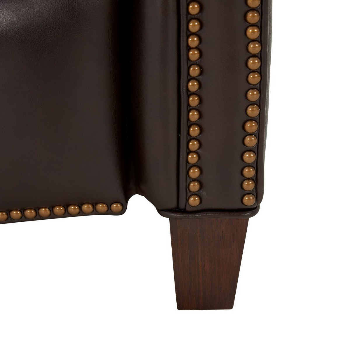 Barcalounger Meade Recliner Chair - Bennington Fudge/All Leather