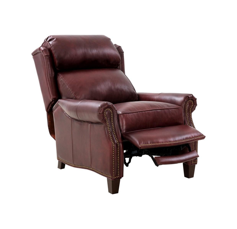 Barcalounger Meade Recliner Chair - Emerson Sangria/Top Grain Leather