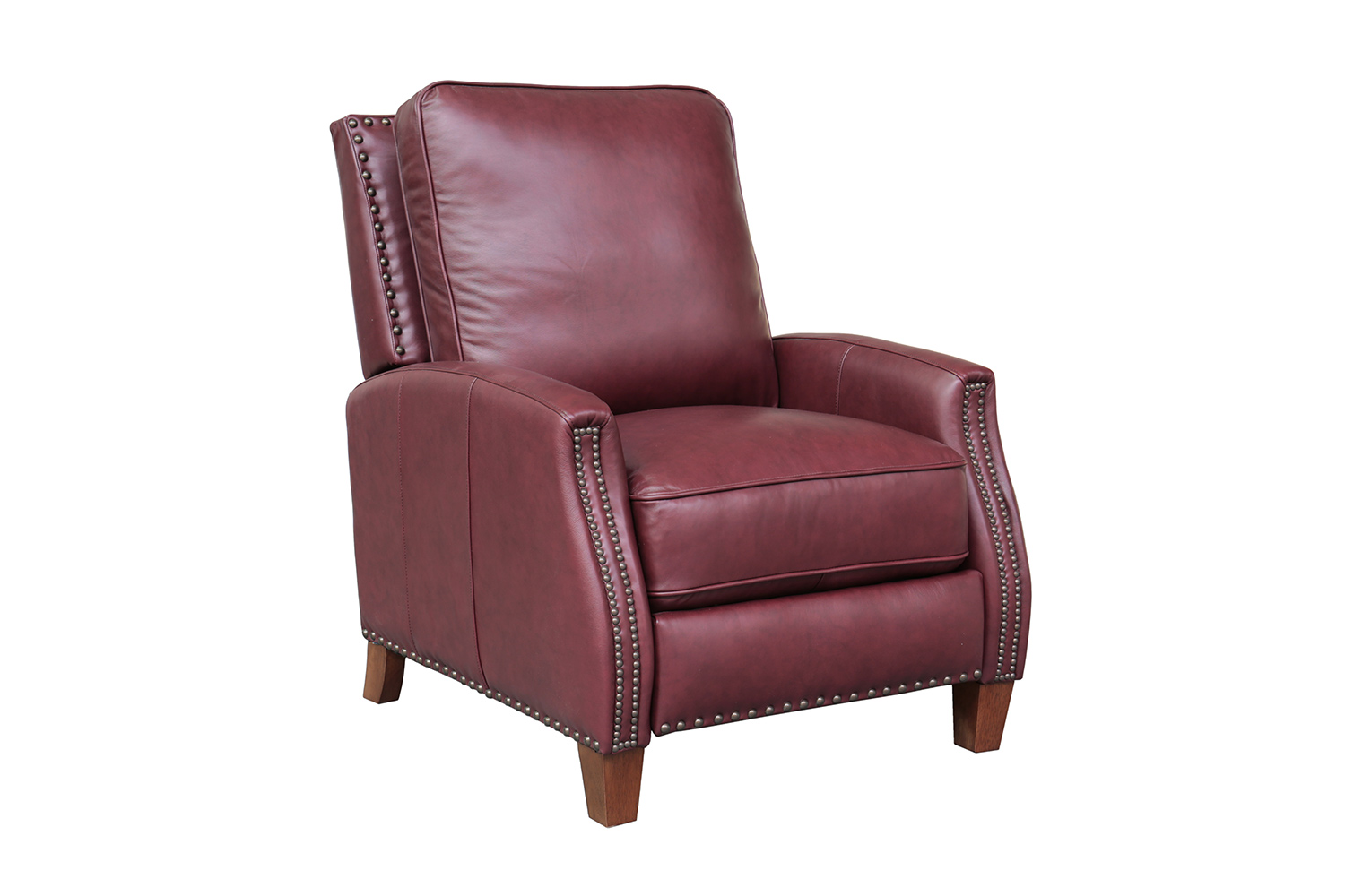Barcalounger Melrose Recliner Chair - Shoreham Wine/All Leather