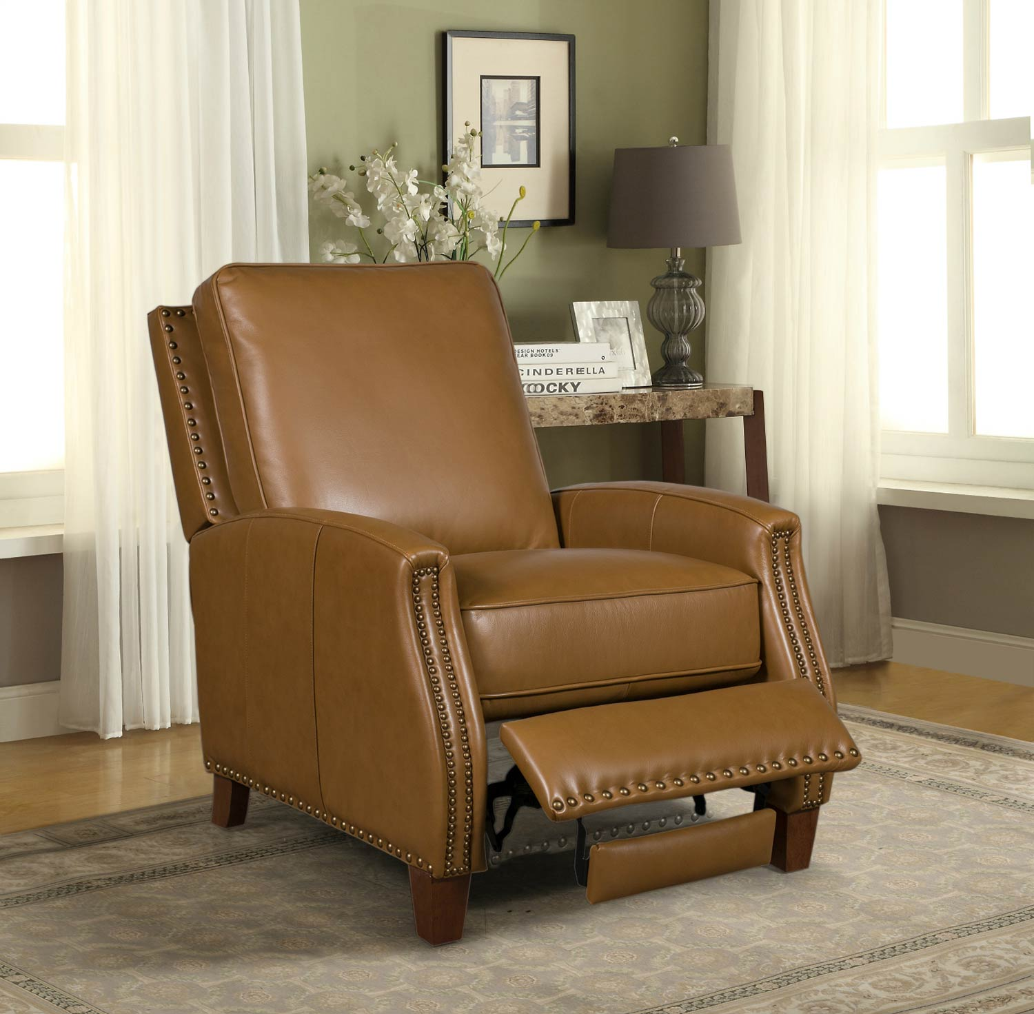 Barcalounger Melrose Recliner Chair - Shoreham Ponytail/All Leather