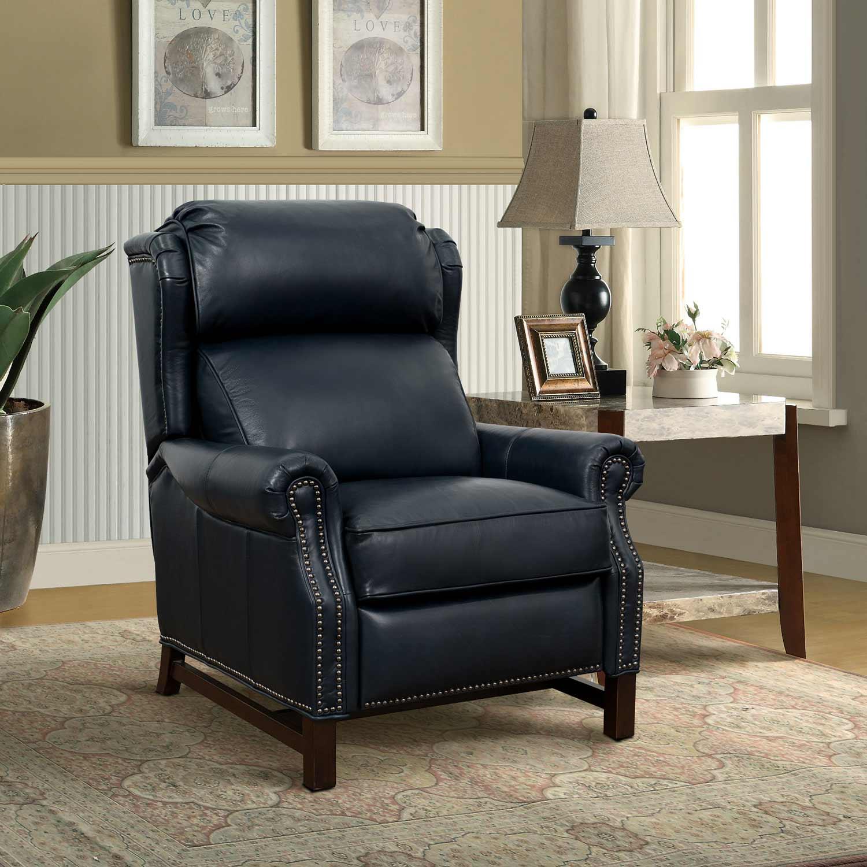 Barcalounger Thornfield Recliner Chair - Shoreham Blue/All Leather