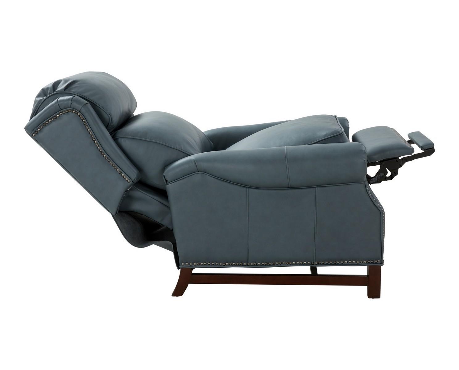 Barcalounger Thornfield Recliner Chair - Corbett Steel Gray/All Leather