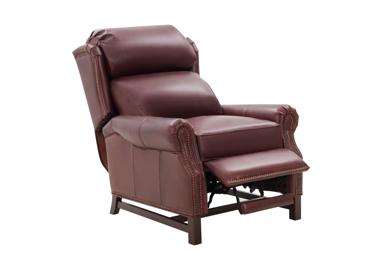 Barcalounger Thornfield Recliner Chair - Emerson Sangria/Top Grain Leather