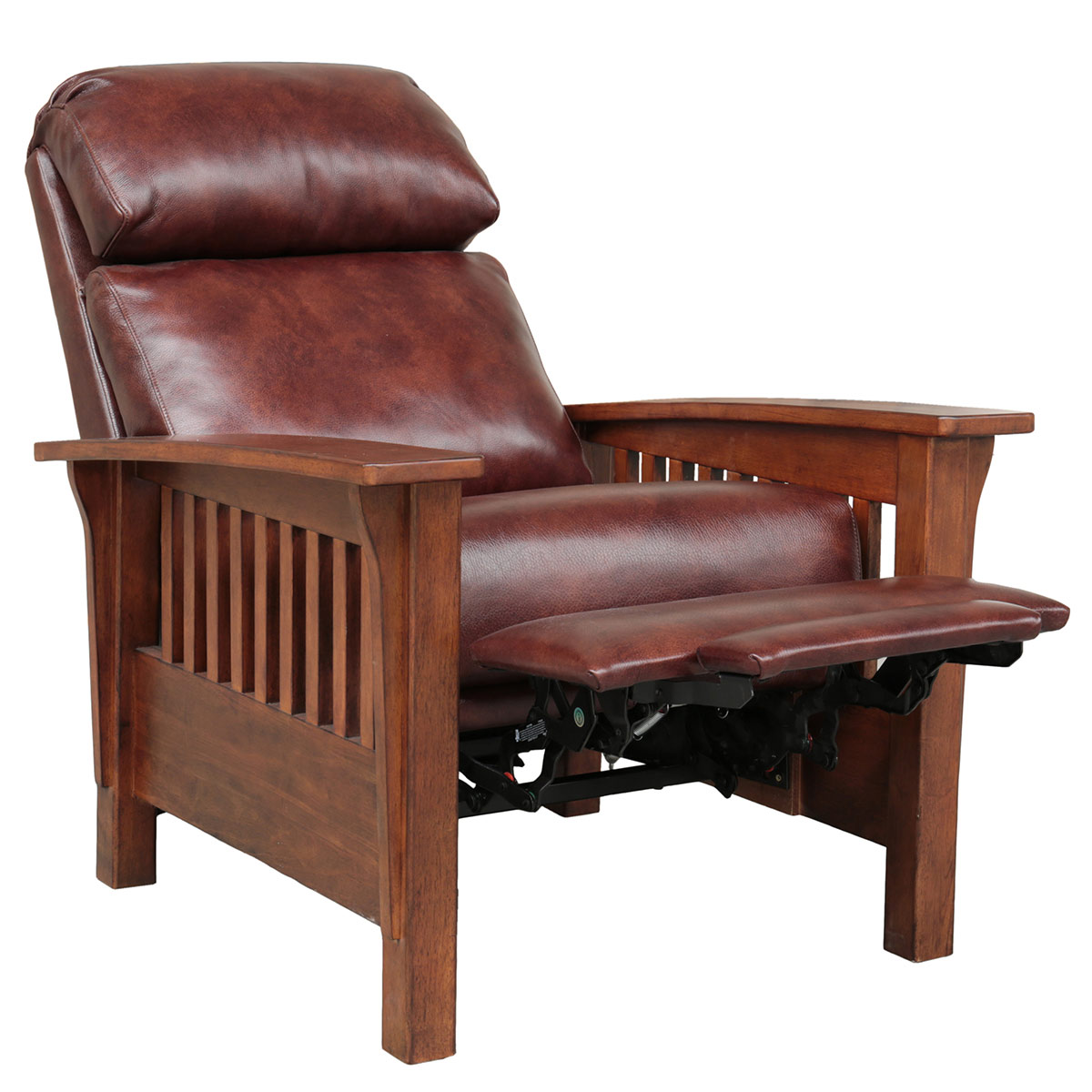 Barcalounger Mission Recliner Chair - Wenlock Fudge/All Leather