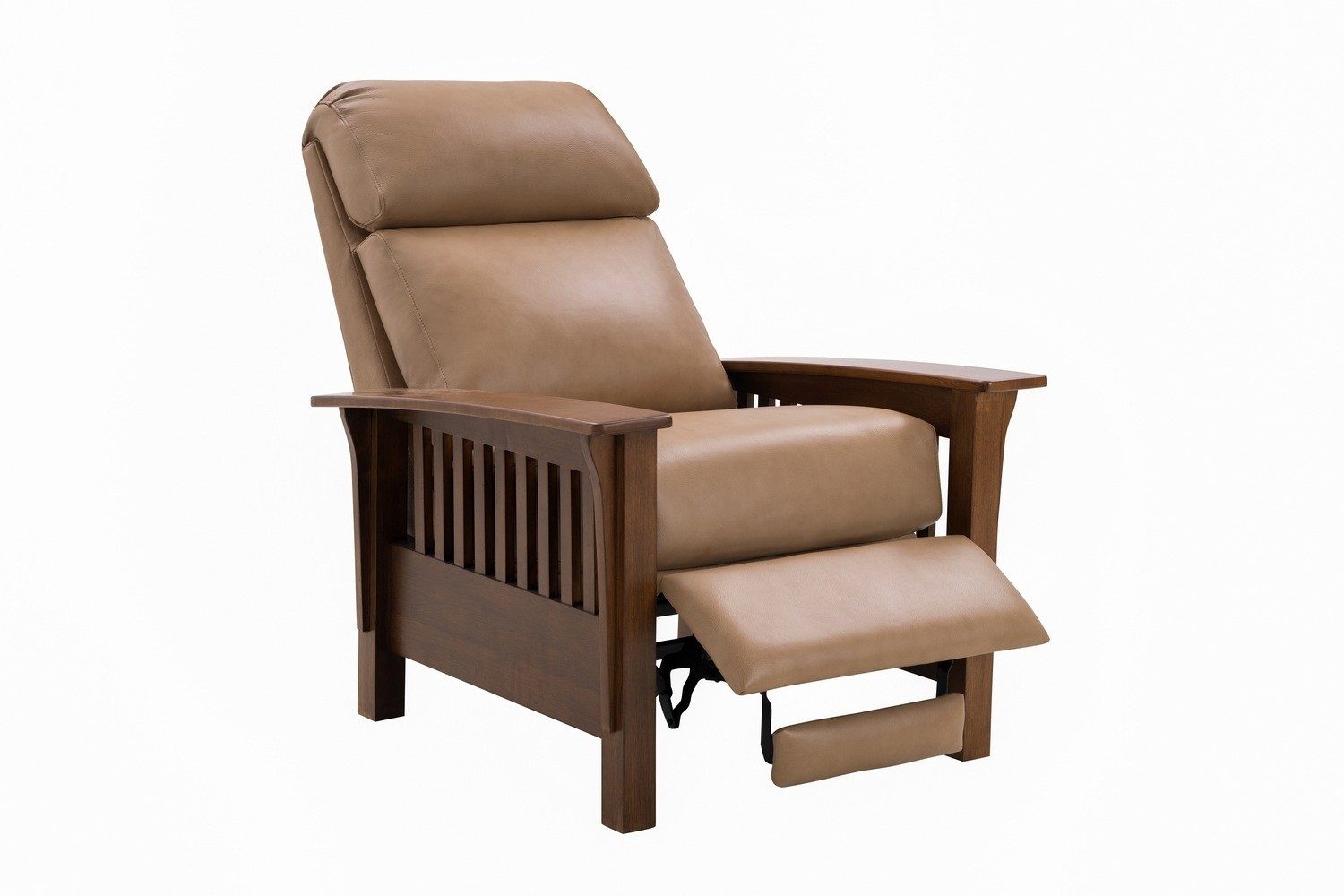 Barcalounger Mission Recliner Chair - Prestin Tuscan Sun/All Leather