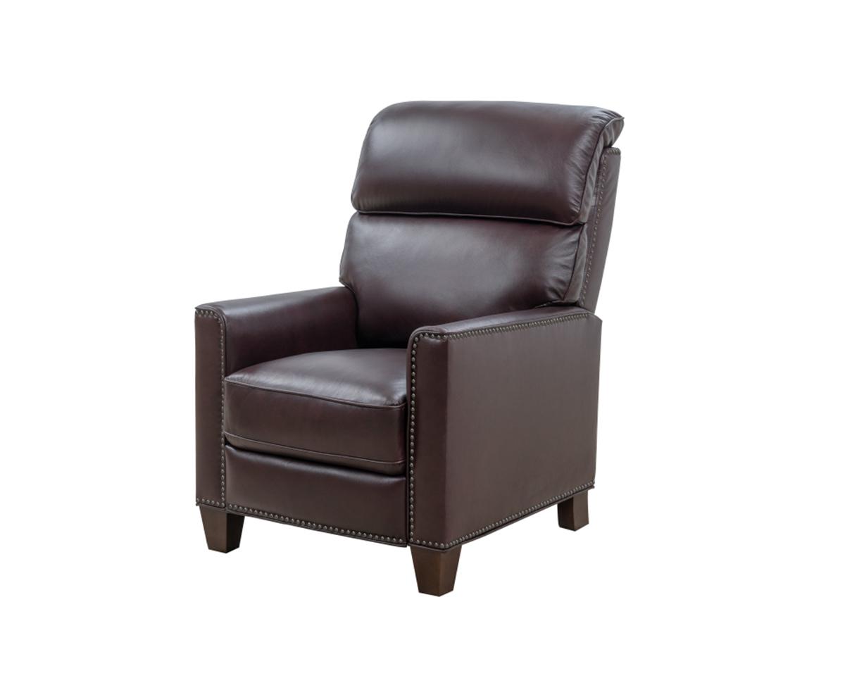 Barcalounger Sheffield Recliner Chair - Henderson Burgundy/Leather Match