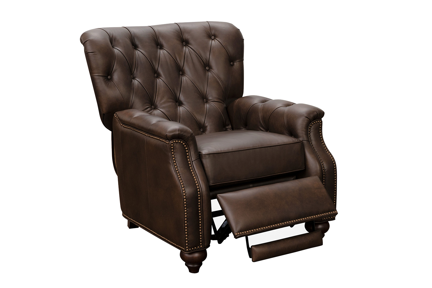 Barcalounger Lombard Recliner Chair - Ashford Walnut/All Leather