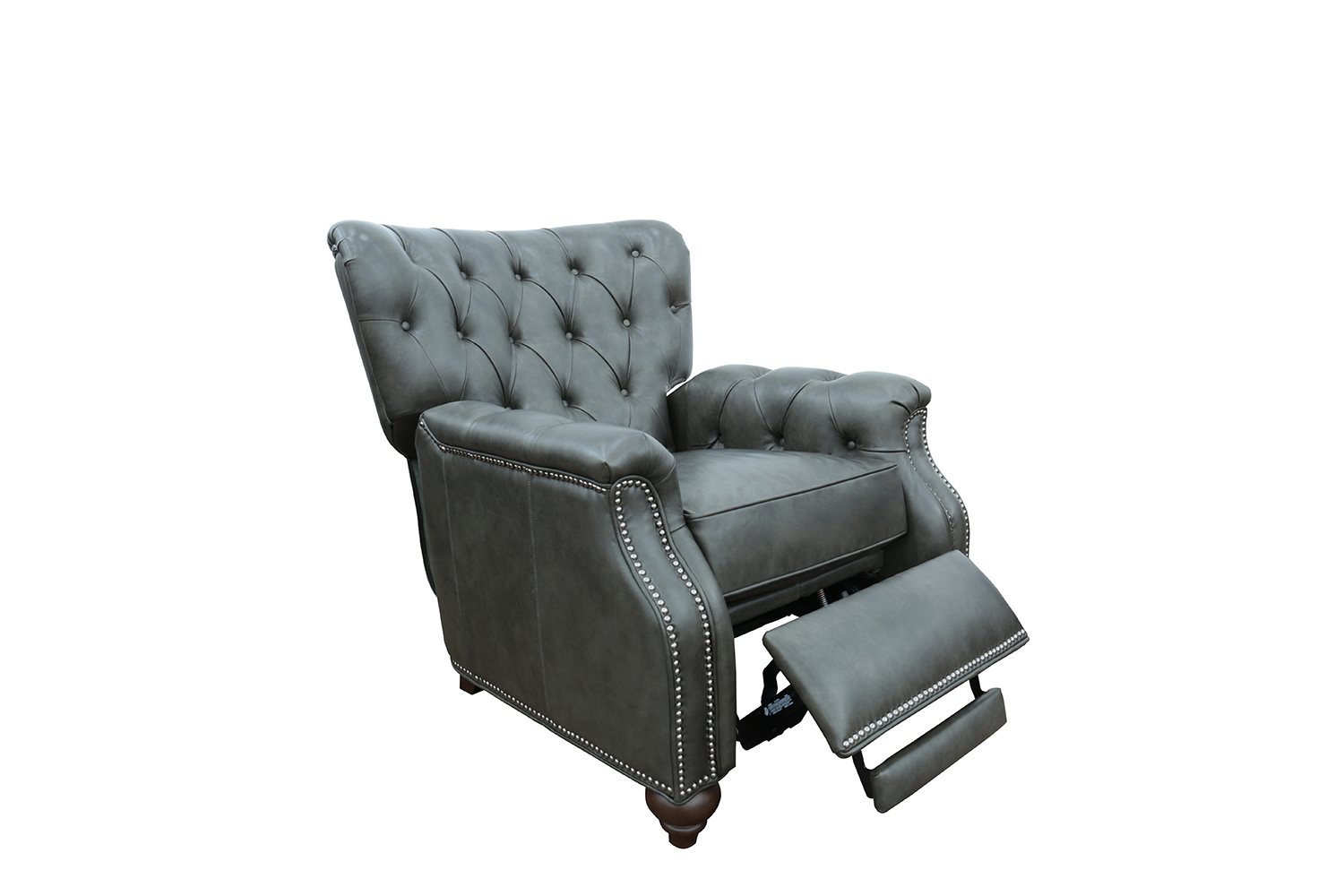 Barcalounger Lombard Recliner Chair - Ashford Graphite/All Leather
