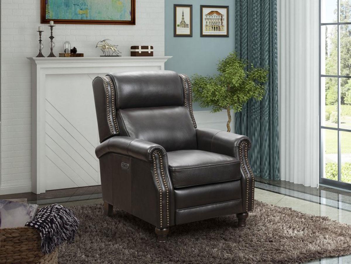 Barcalounger Montview Recliner Chair - Shoreham Fudge/All Leather