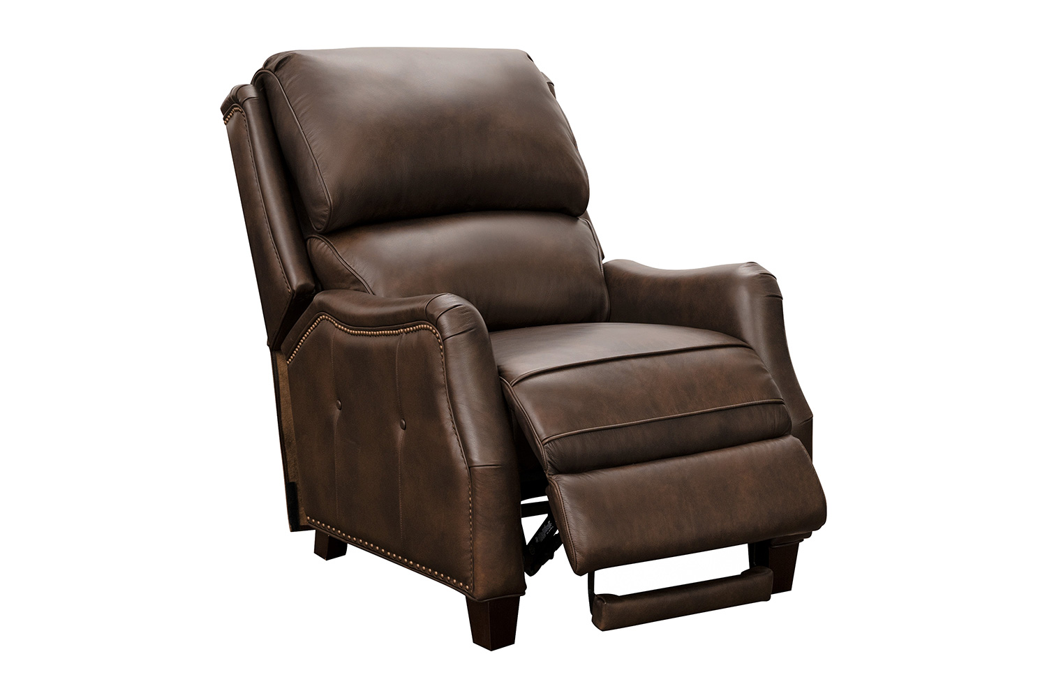 Barcalounger Morrison Big and Tall Recliner Chair - Ashford Walnut/All Leather