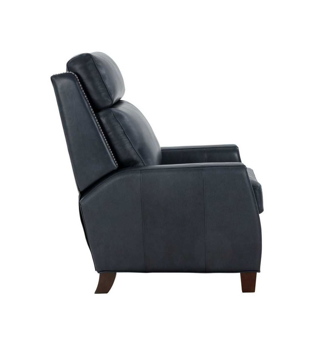 Barcalounger Anaheim Big and Tall Recliner Chair - Barone Navy Blue/All Leather