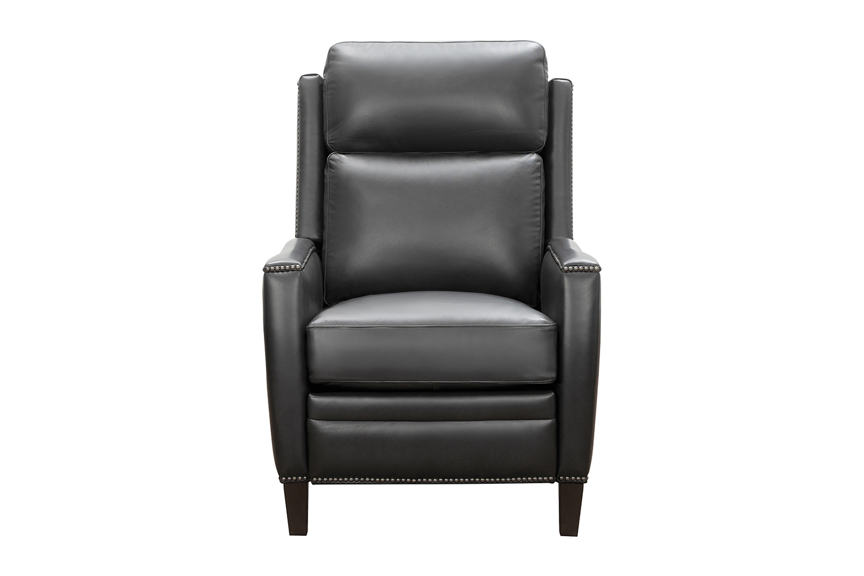 Barcalounger Nolan Recliner Chair - Shoreham Gray/All Leather