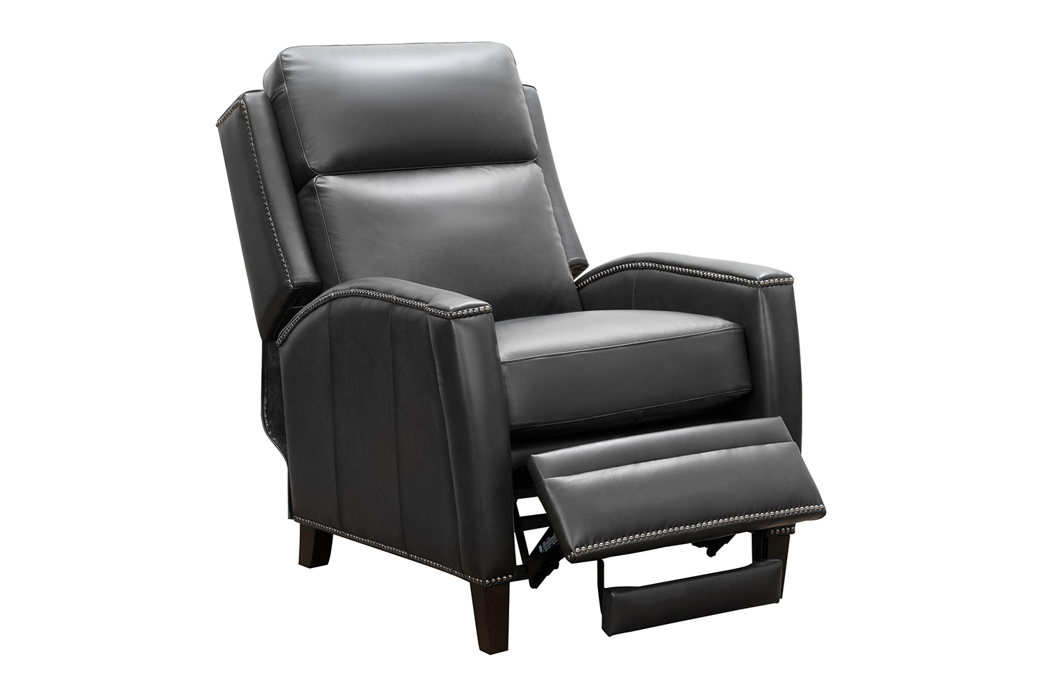 Barcalounger Nolan Recliner Chair - Shoreham Gray/All Leather