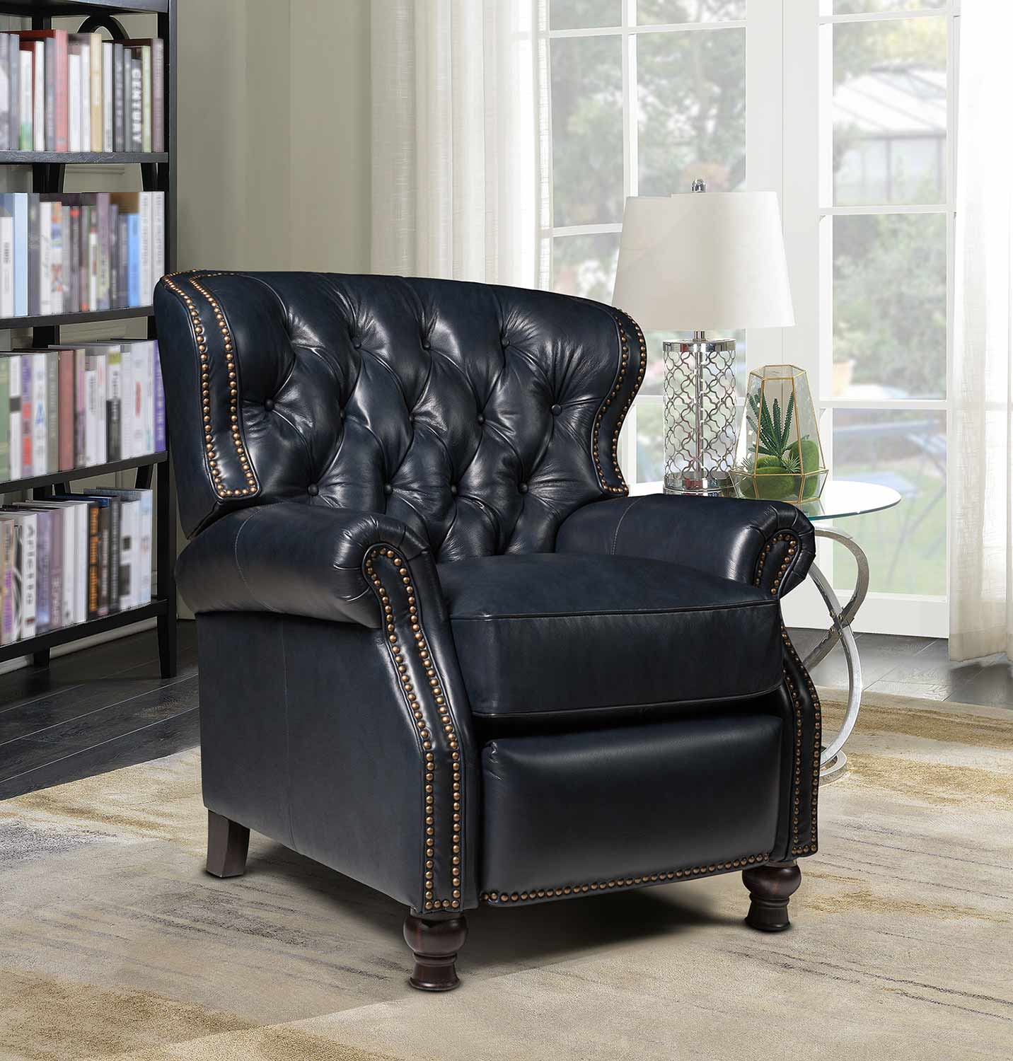 Barcalounger Presidential Recliner Chair - Shoreham Blue/All Leather