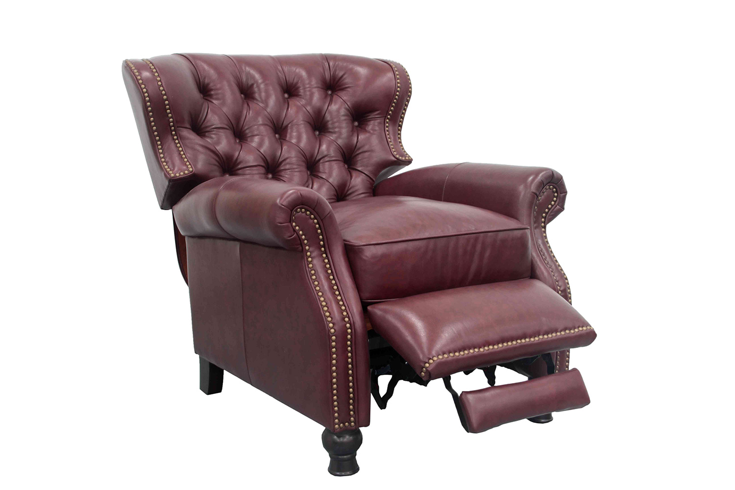 Barcalounger Presidential Recliner Chair - Shoreham Wine/All Leather