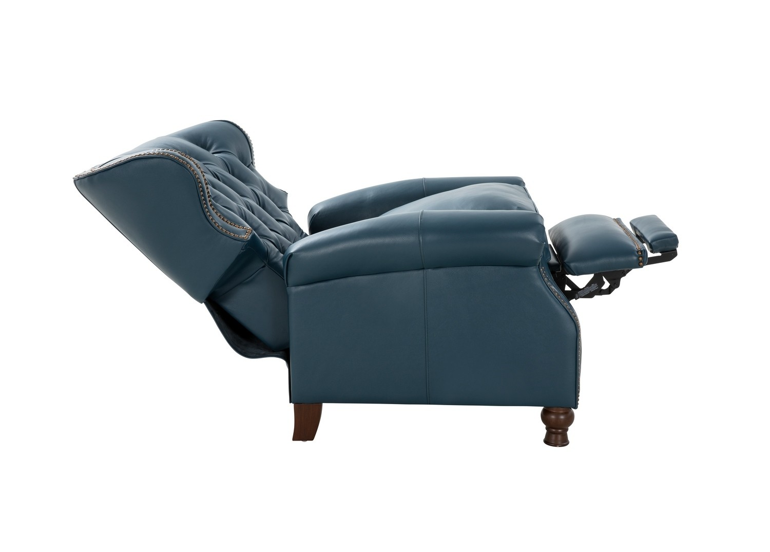 Barcalounger Presidential Recliner Chair - Prestin Yale Blue/All Leather