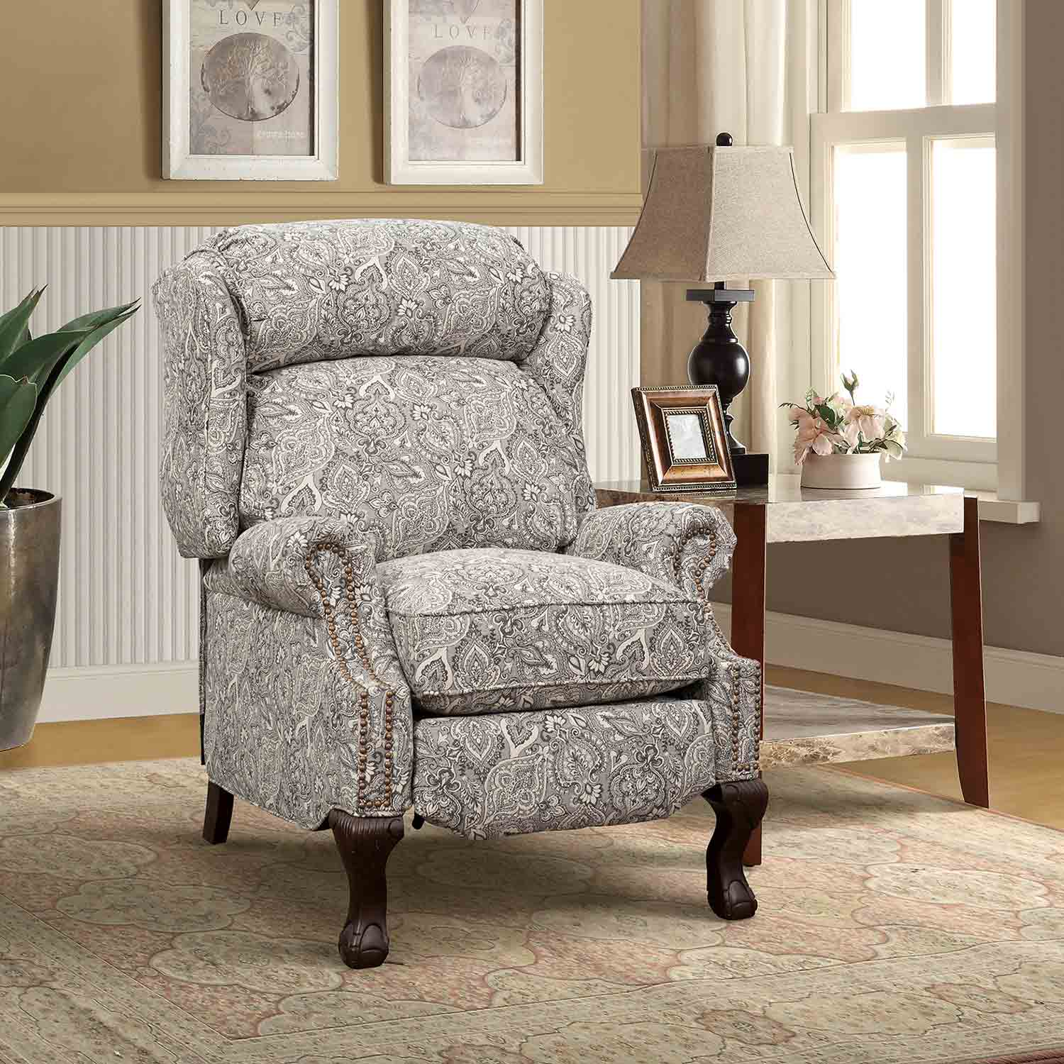Barcalounger Danbury Recliner Chair - Rustic Cobblestone fabric