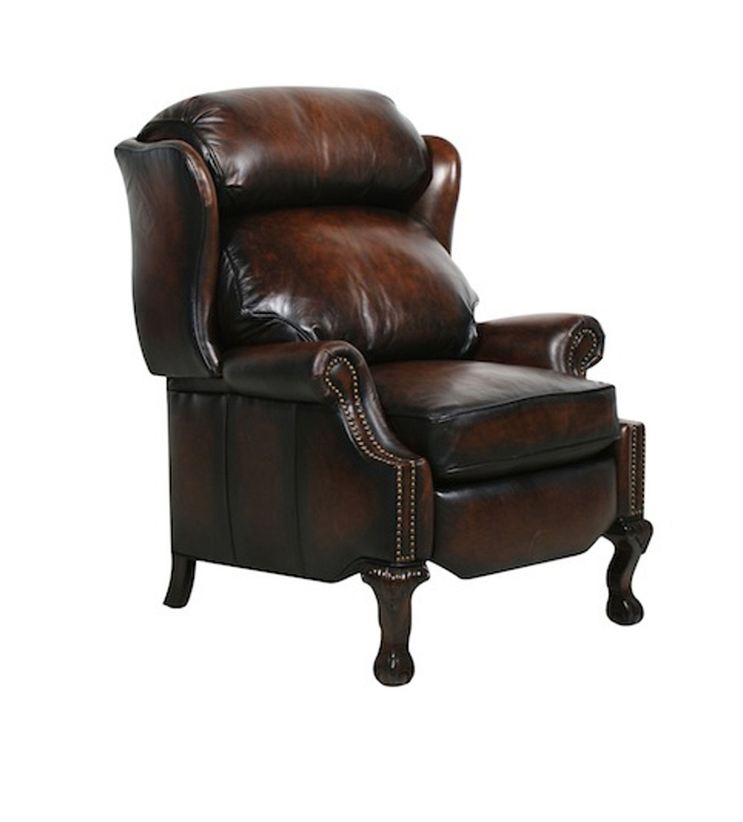 Barcalounger Churchill Recliner Chair - Stetson Coffee/All Leather
