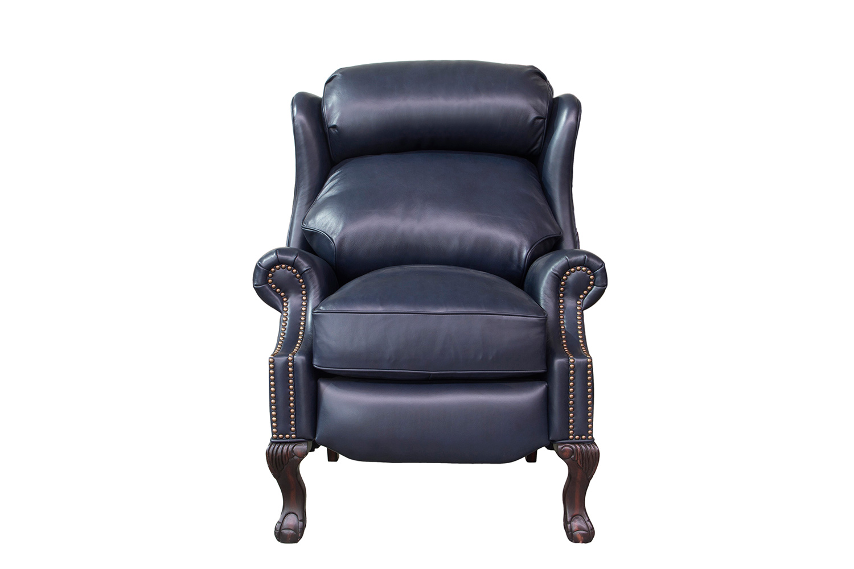 Barcalounger Danbury Recliner Chair - Shoreham Blue/All Leather