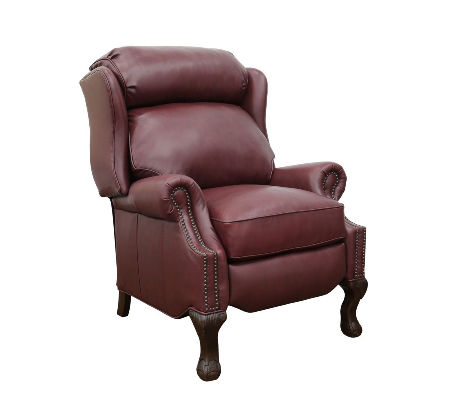 Barcalounger Danbury Recliner Chair - Shoreham Wine/all leather