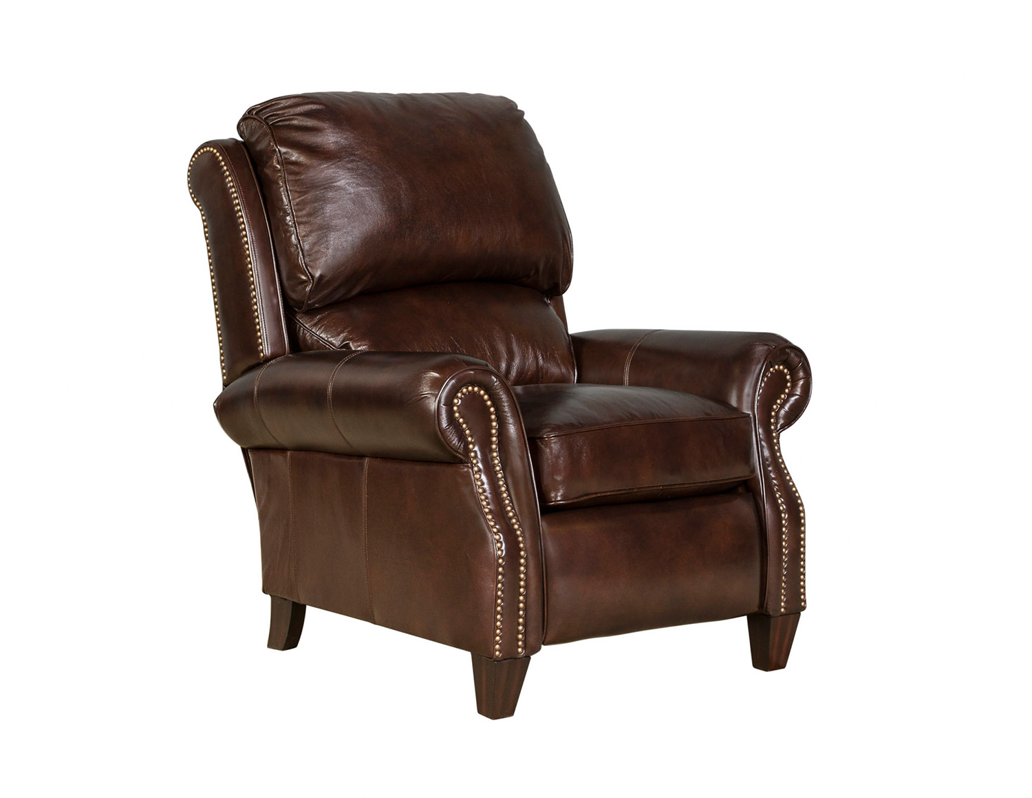 Barcalounger Churchill Recliner Chair - Double Fudge/All Leather