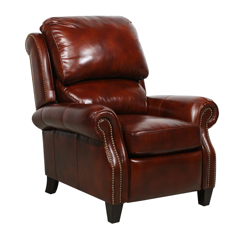 Barcalounger Churchill Recliner Chair - Art Burl/All Leather