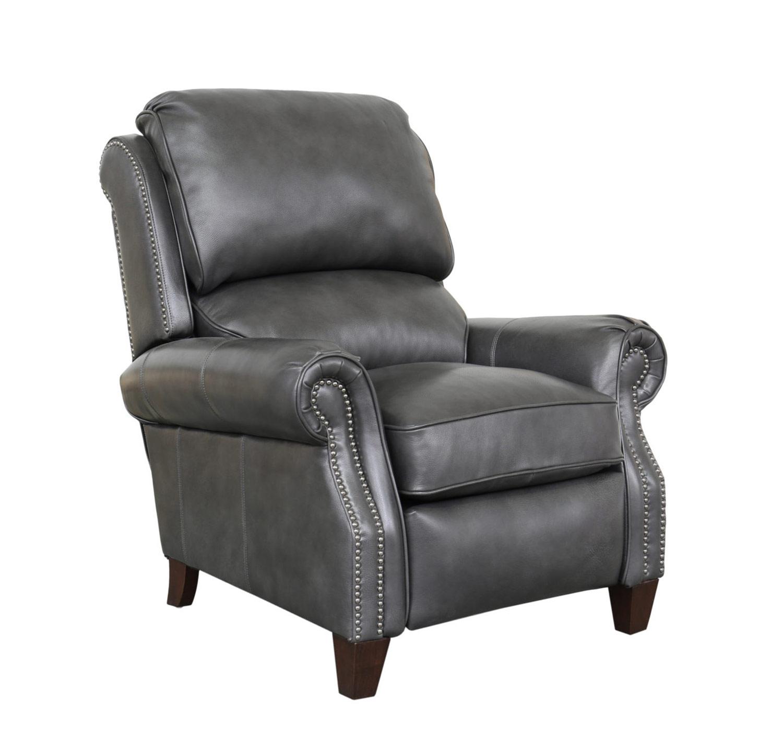 Barcalounger Churchill Recliner Chair - Wrenn Gray/all leather