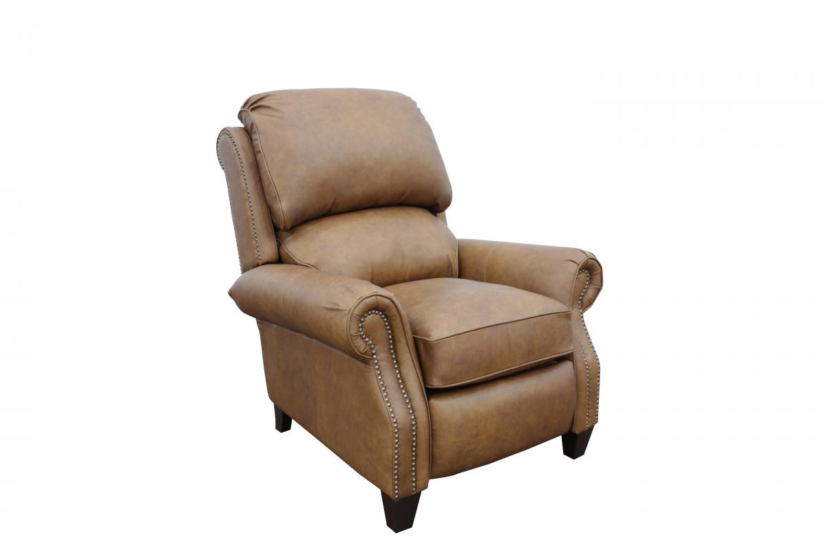 Barcalounger Churchill Recliner Chair - Rustic Bourbon/All Top Rain Leather