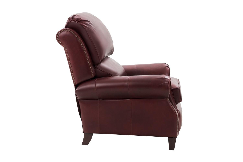 Barcalounger Churchill Recliner Chair - Emerson Sangria/Top Grain Leather