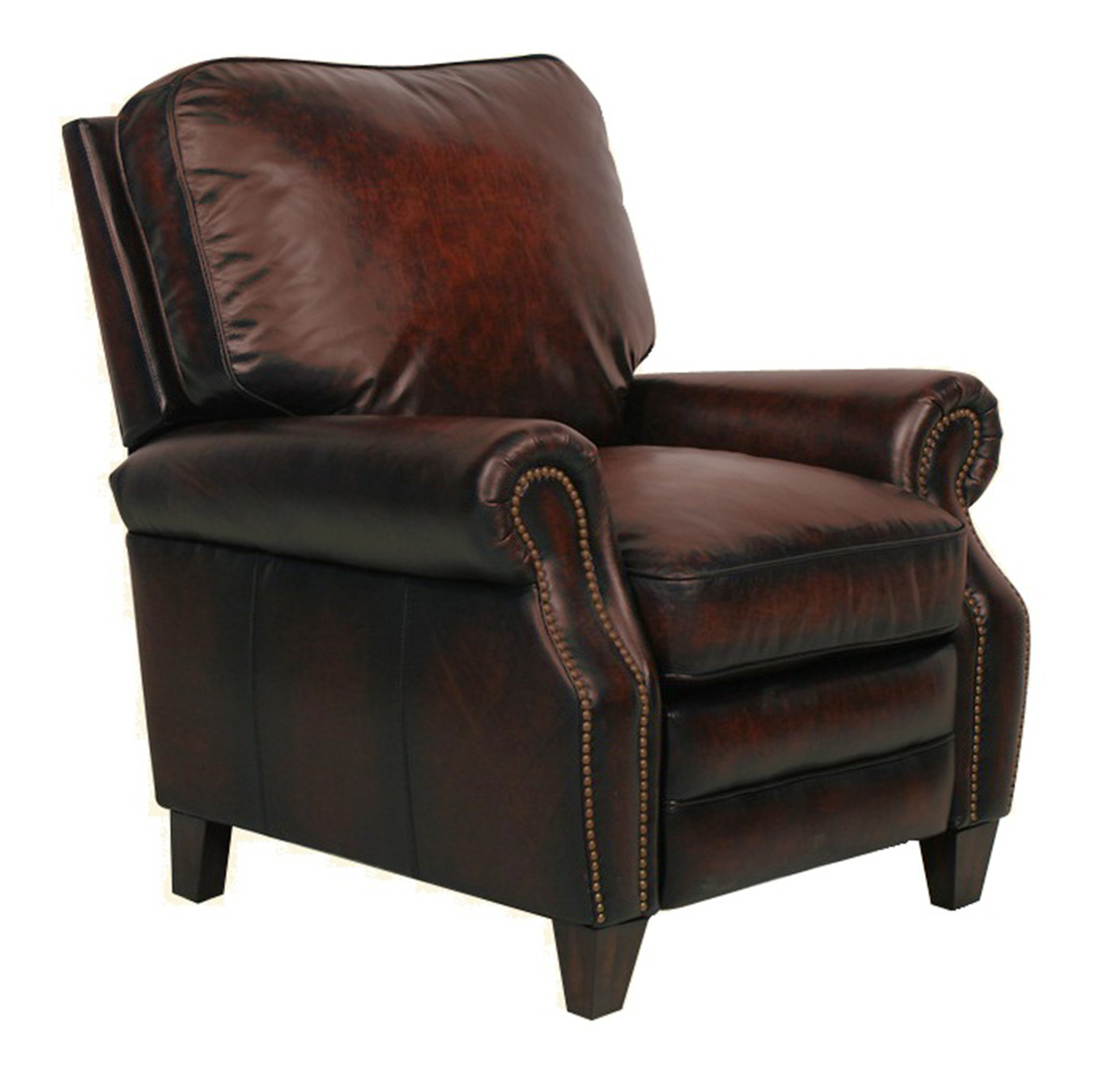 Barcalounger Briarwood Recliner Chair - Stetson Bordeaux/All Leather