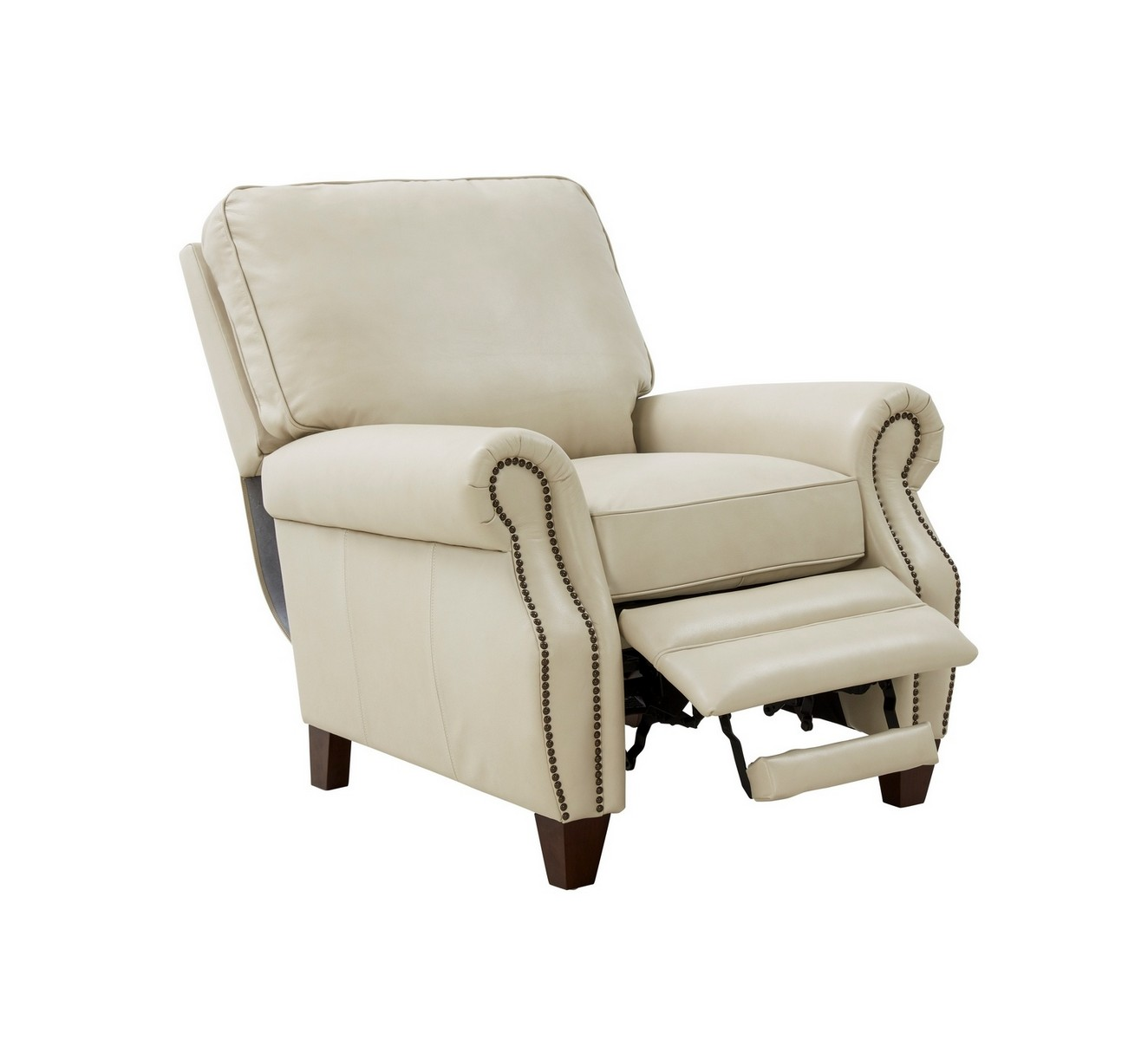 Barcalounger Briarwood Recliner Chair - Barone Parchment/All Leather