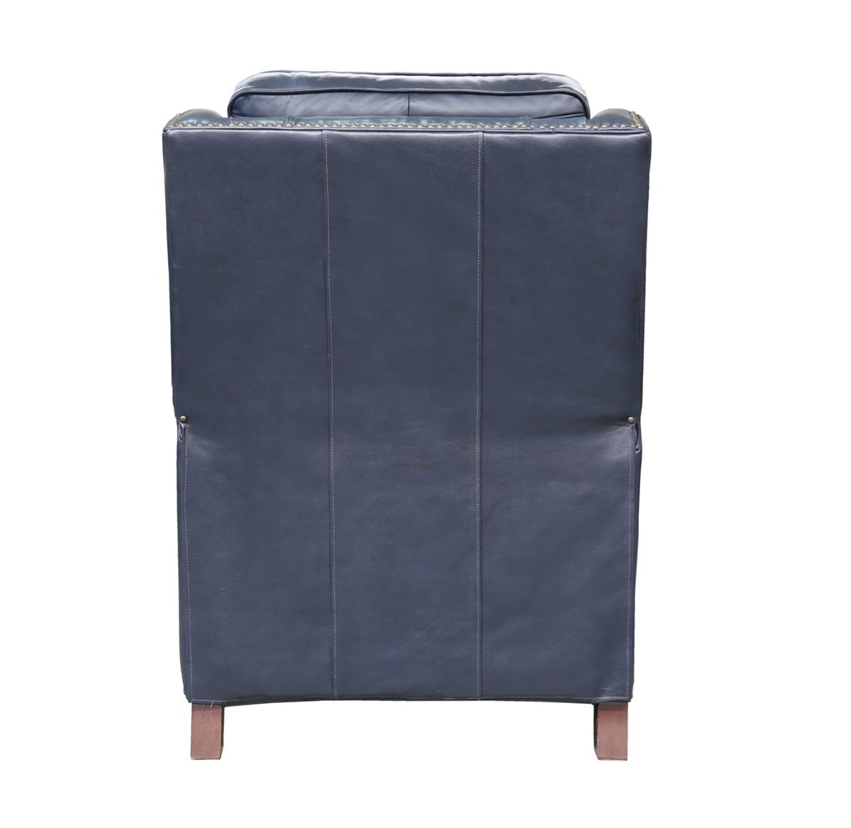 Barcalounger Van Buren Recliner Chair - Shoreham Blue/all leather