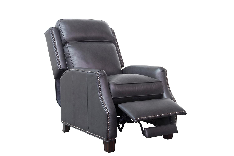 Barcalounger Van Buren Recliner Chair - Shoreham Gray/All Leather