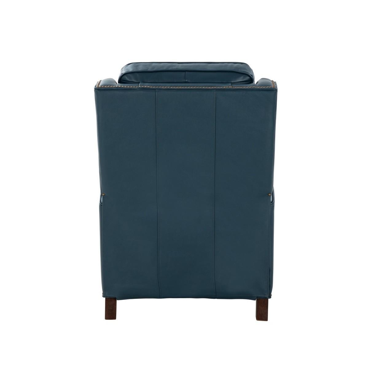Barcalounger Van Buren Recliner Chair - Prestin Yale Blue/All Leather
