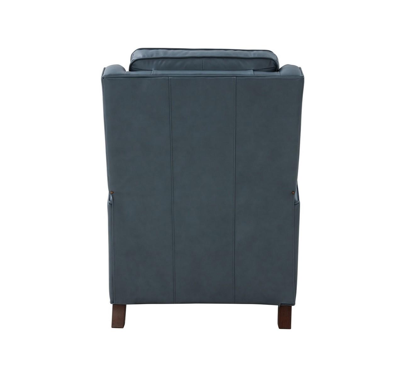 Barcalounger Nixon Recliner Chair - Corbett Steel Gray/All Leather