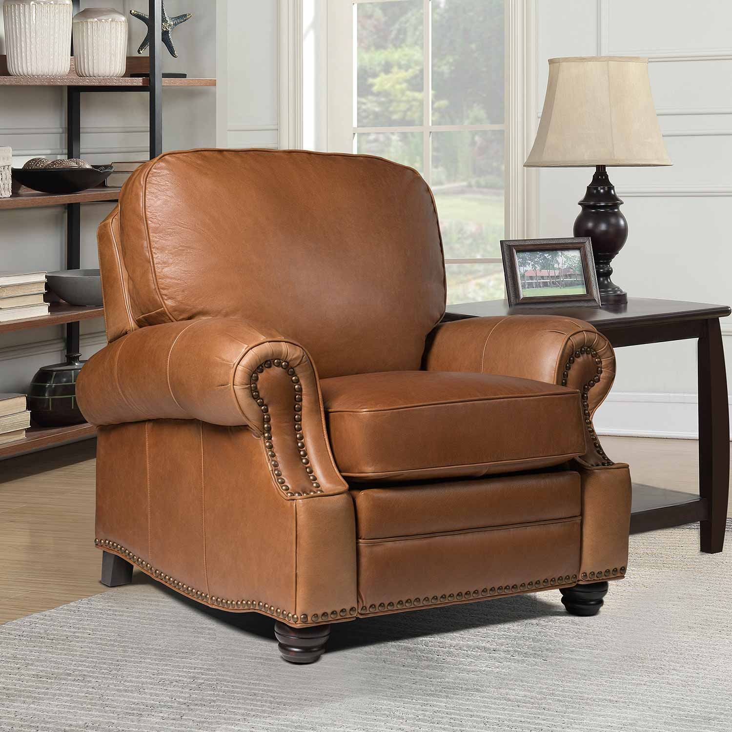 Barcalounger Longhorn Recliner Chair - Chaps Saddle/All top grain Leather