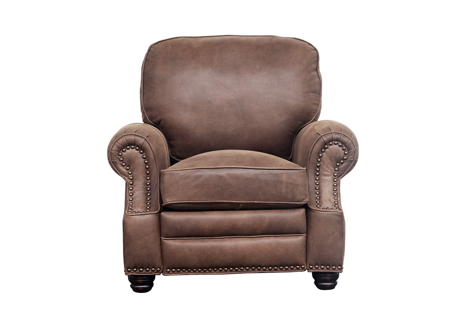 Barcalounger Longhorn Recliner Chair - Sanded Dark Bomber/Top Grain Leather