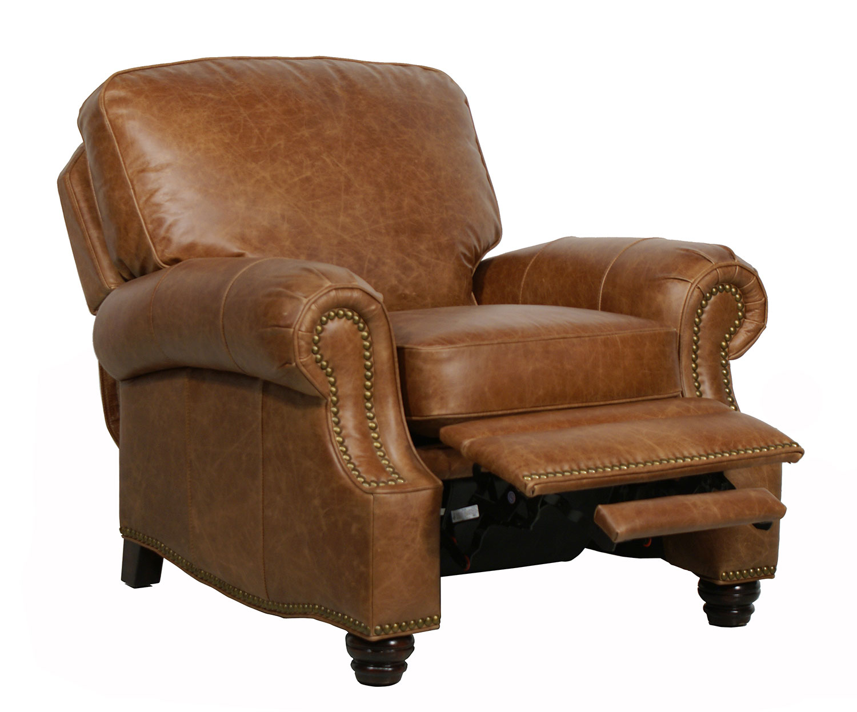 Barcalounger longhorn ll vintage reserve leather recliner for Barcalounger