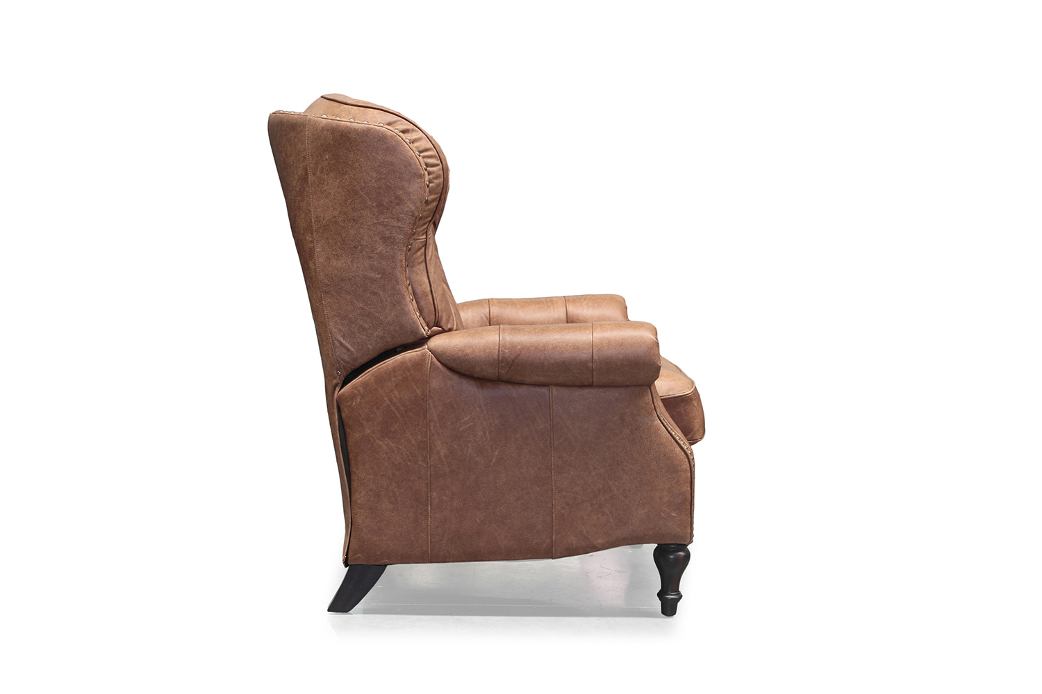 Barcalounger KendAll Recliner Chair - Sanded Bomber/All top grain Leather