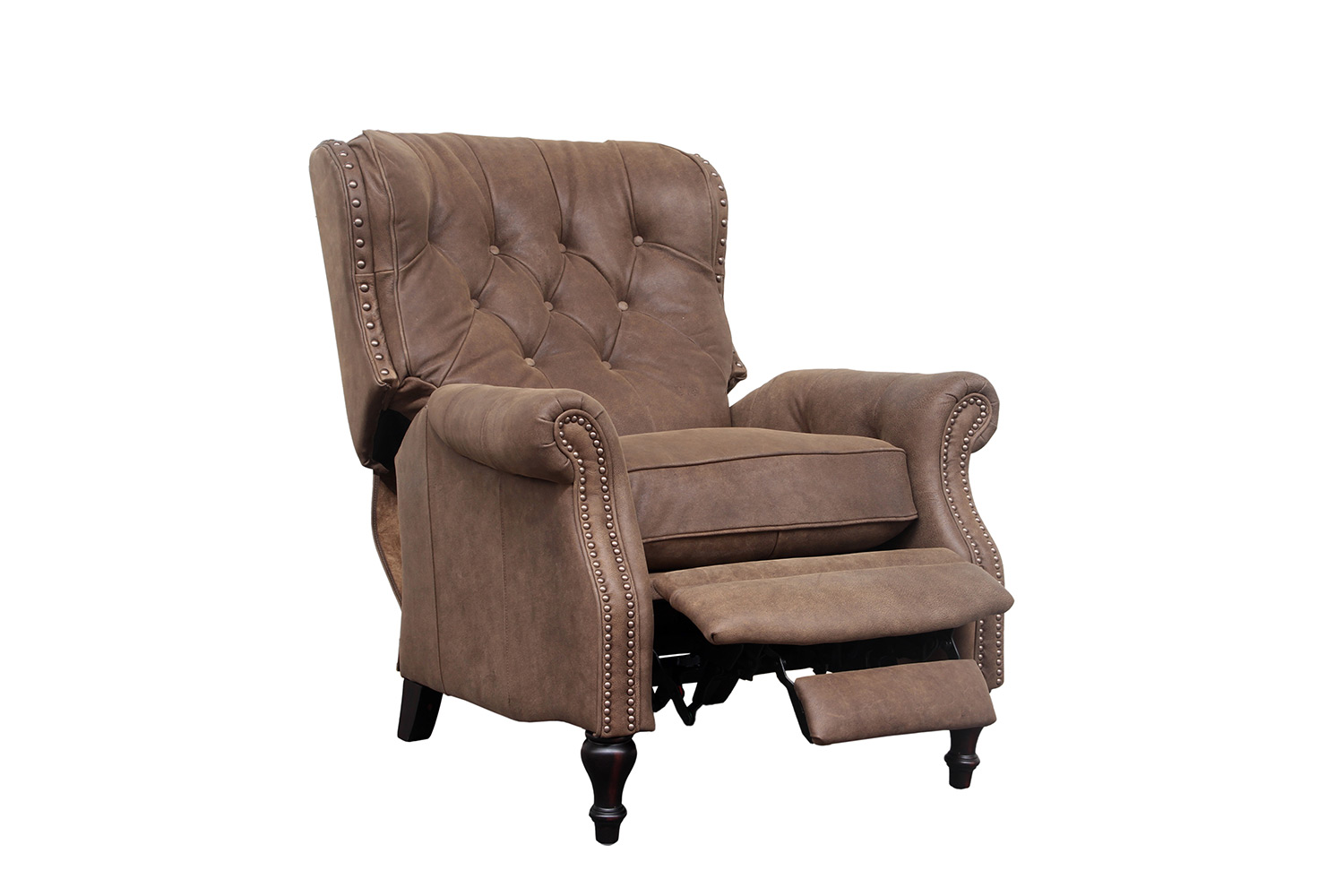 Barcalounger KendAll Recliner Chair - Sanded Dark Bomber/Top Grain Leather