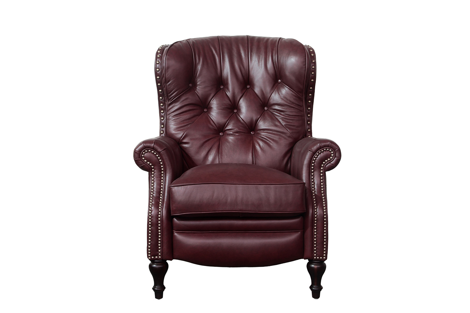 Barcalounger KendAll Recliner Chair - Shoreham Wine/All Leather