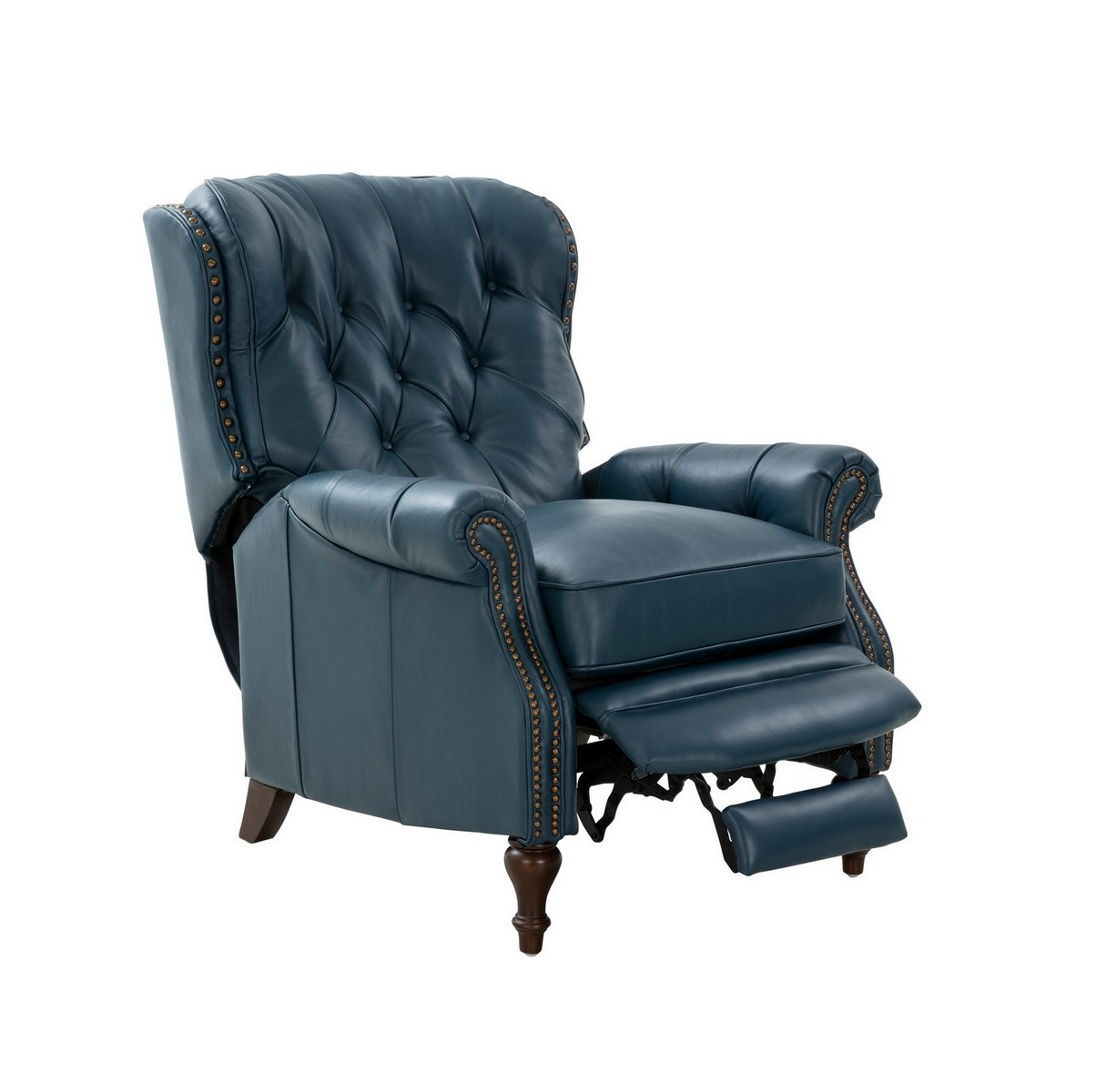 Barcalounger Kendall Recliner Chair - Prestin Yale Blue/All Leather