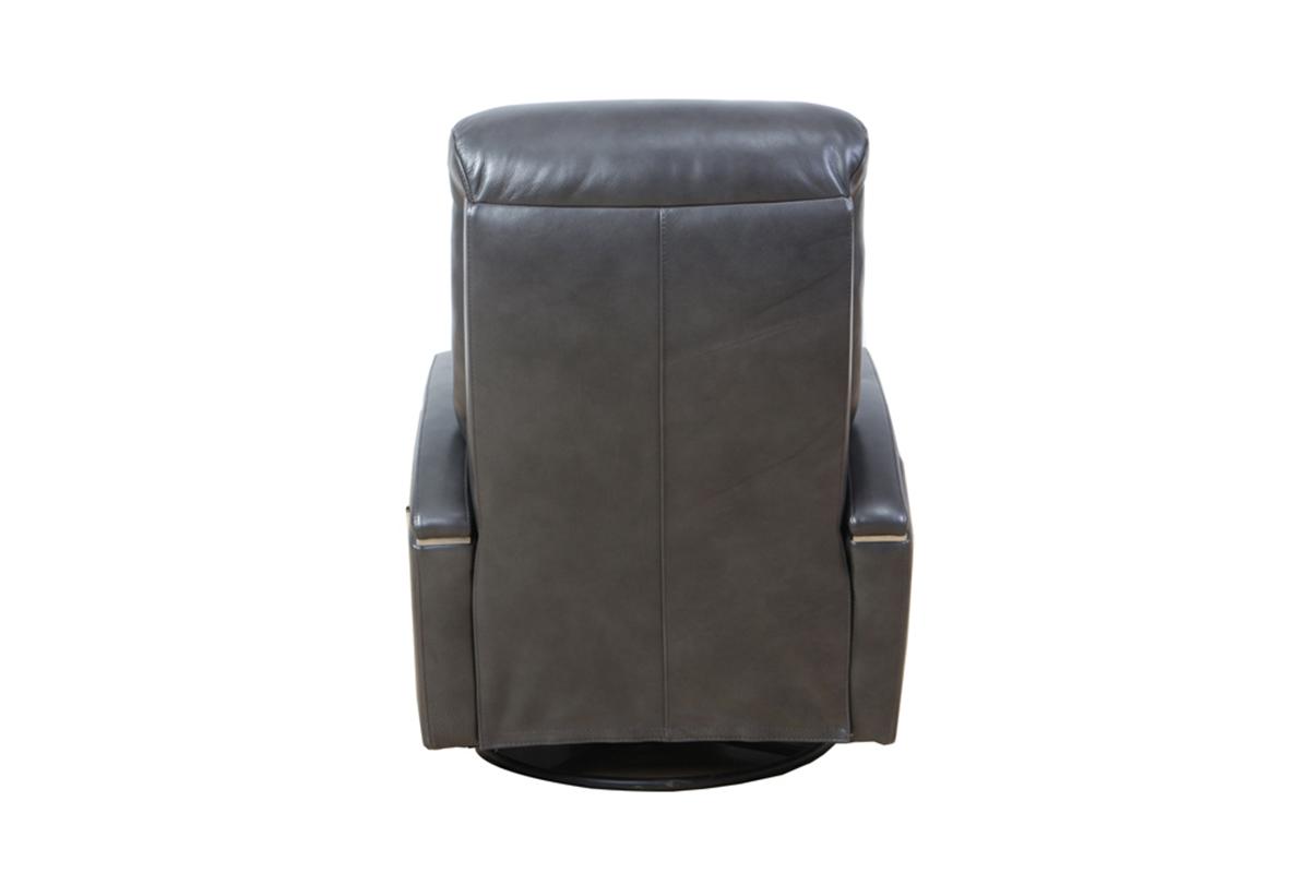 Barcalounger Fallon Swivel Glider Recliner Chair - Ryegate Gray/leather match